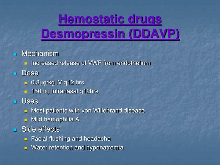 Hemostatic drugs