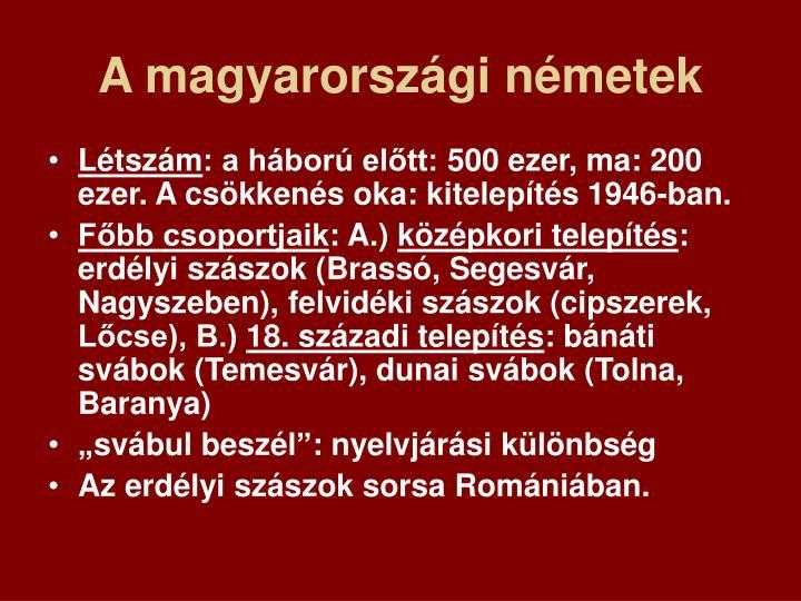 A magyarországi németek