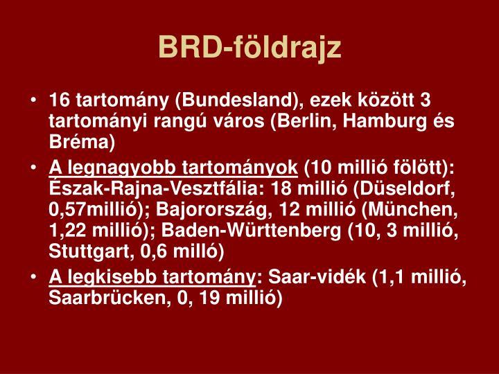 BRD-földrajz