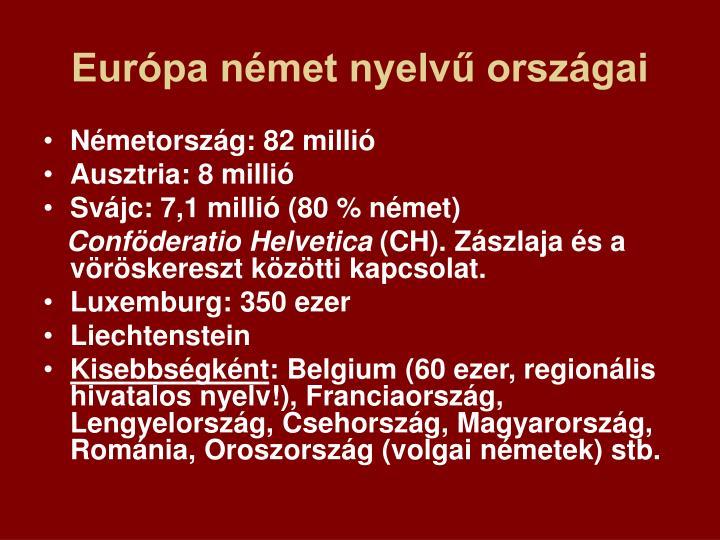 Európa német nyelvű országai