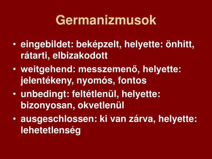 Germanizmusok