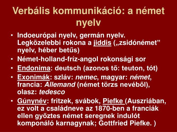 Verbális kommunikáció: a német nyelv