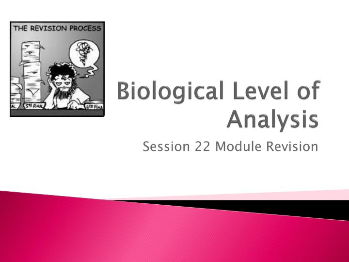 biological level of analysis n.