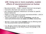 l06 using one or more examples explain effects of neurotransmission on human behaviour