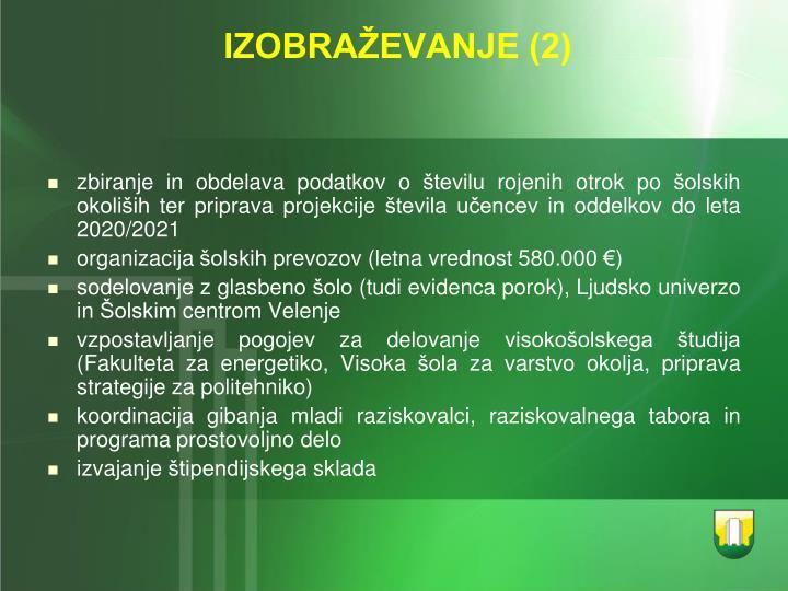 IZOBRAŽEVANJE (2)
