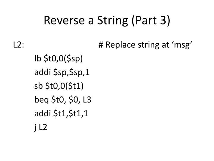 Reverse a String (Part