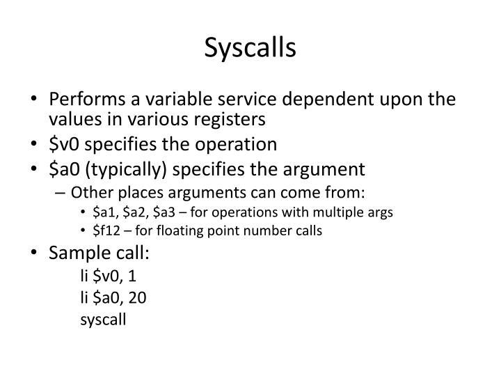 Syscalls