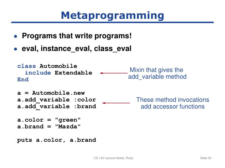 Metaprogramming
