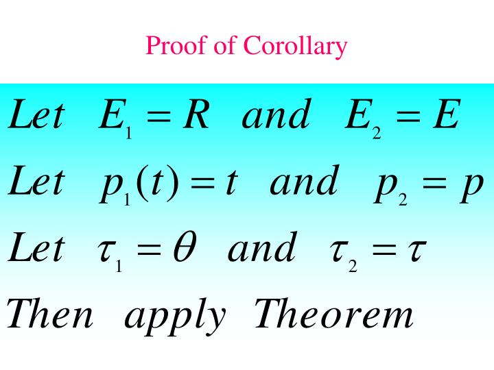 Proof of Corollary