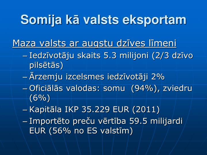 Somija k valsts eksportam