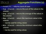 aggregate functions 2