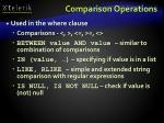comparison operations