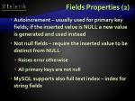 fields properties 2