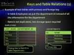 keys and table relations 2