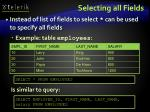 selecting all fields