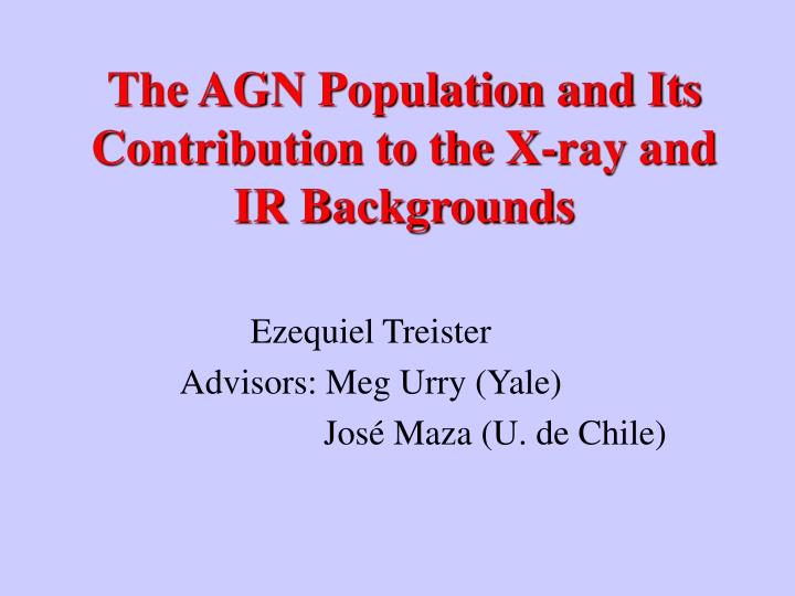 The agn population and its contribution to the x ray and ir backgrounds