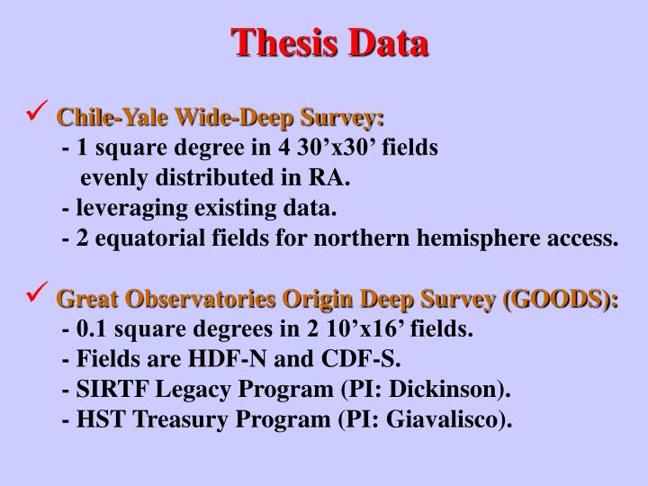 Thesis Data