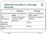 network security vs storage security
