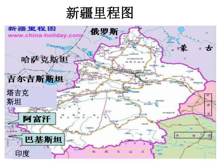 新疆里程图