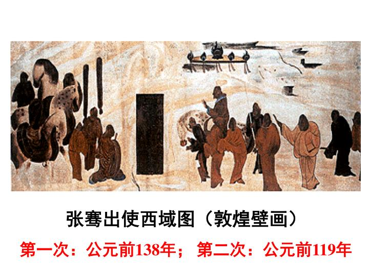 张骞出使西域图(敦煌壁画)