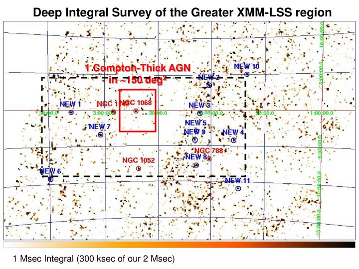 Deep Integral Survey of the Greater XMM-LSS region