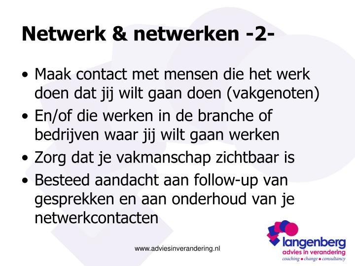 Netwerk & netwerken -2-