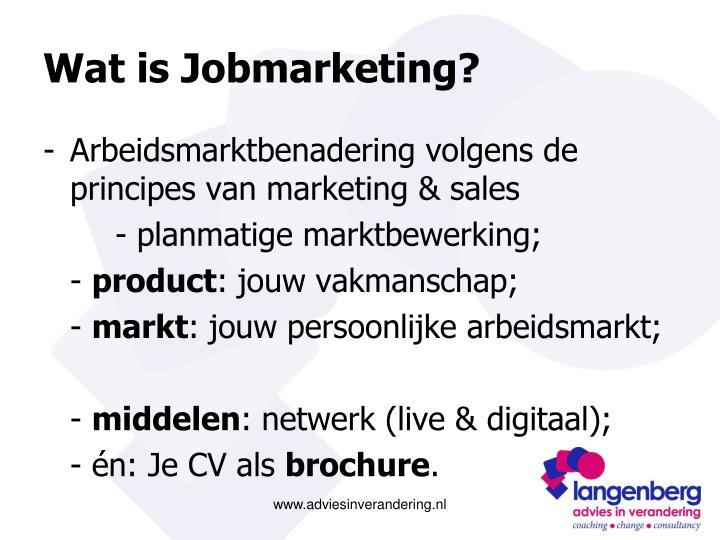 Wat is jobmarketing
