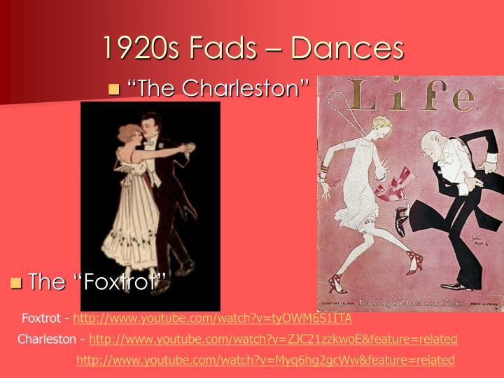1920s Fads – Dances