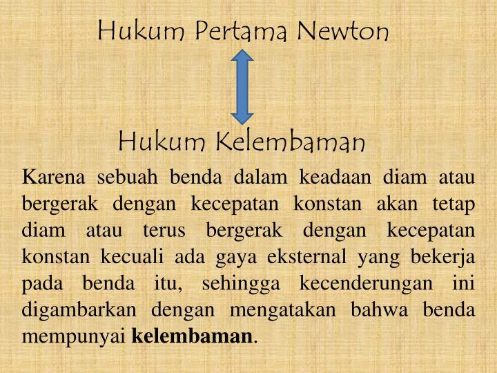 Hukum Pertama Newton