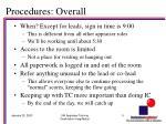 procedures overall