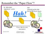 remember the paper flow