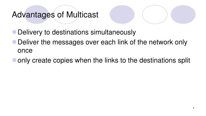 Advantages of Multicast
