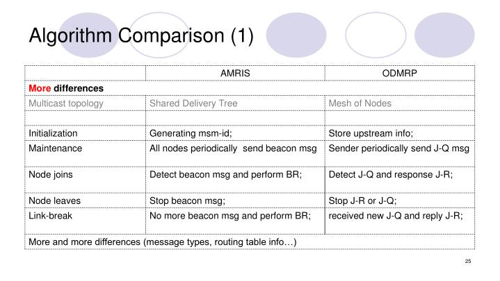 Algorithm Comparison (1)