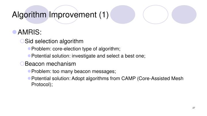Algorithm Improvement (1)