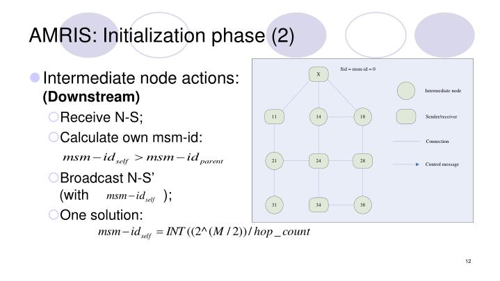 AMRIS: Initialization phase (2)
