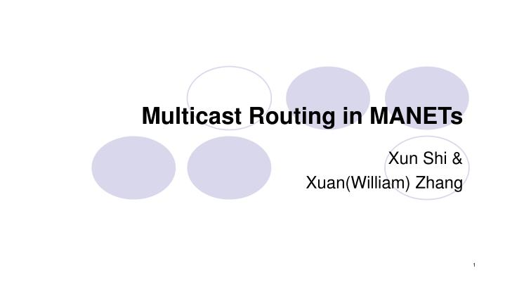 Multicast routing in manets