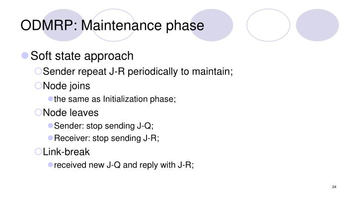 ODMRP: Maintenance phase