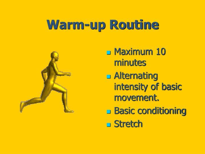 Warm-up Routine