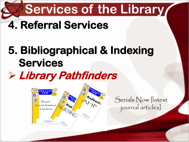 Services of the Library