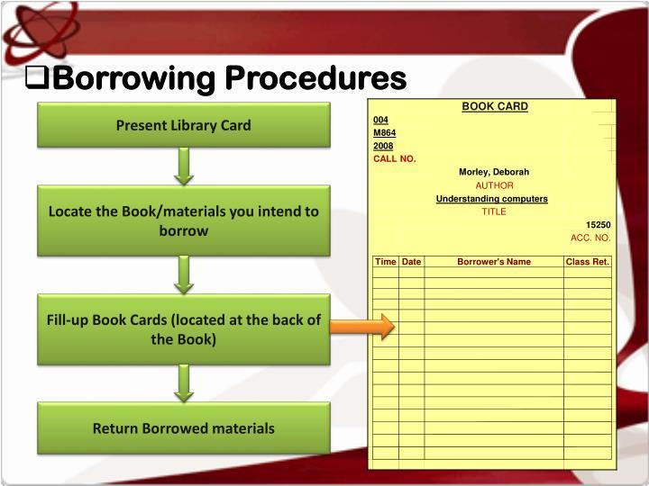 Borrowing Procedures