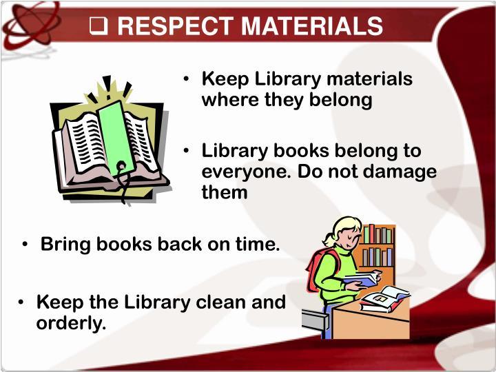 RESPECT MATERIALS