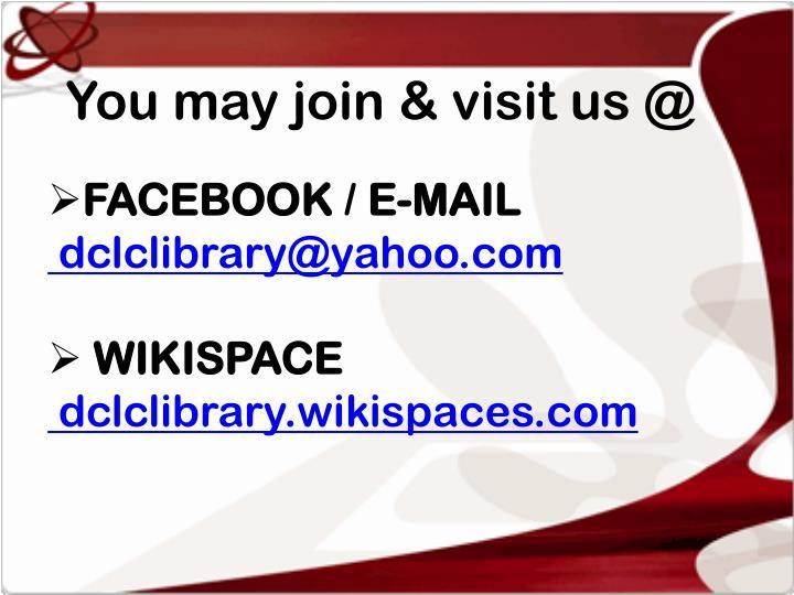 You may join & visit us @