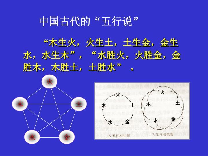 """中国古代的""""五行说"""""""