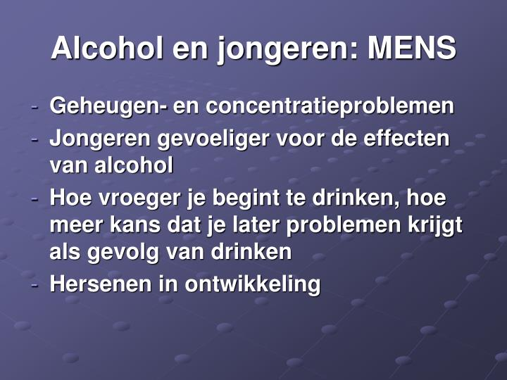 Alcohol en jongeren: MENS