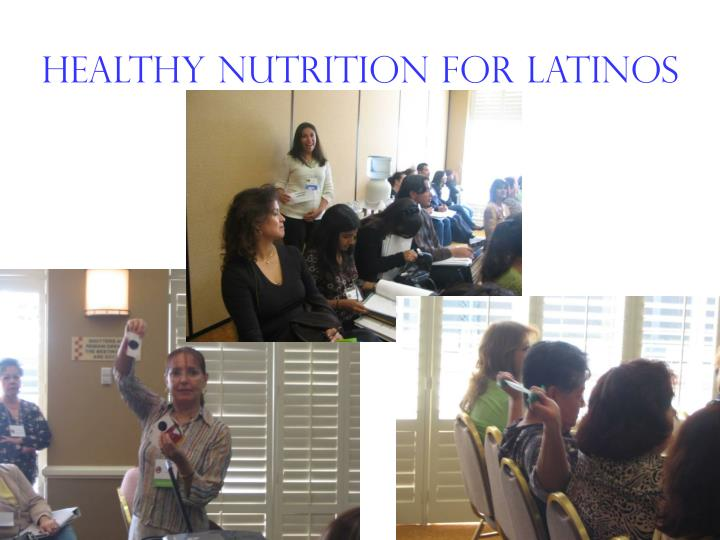 Healthy Nutrition for Latinos