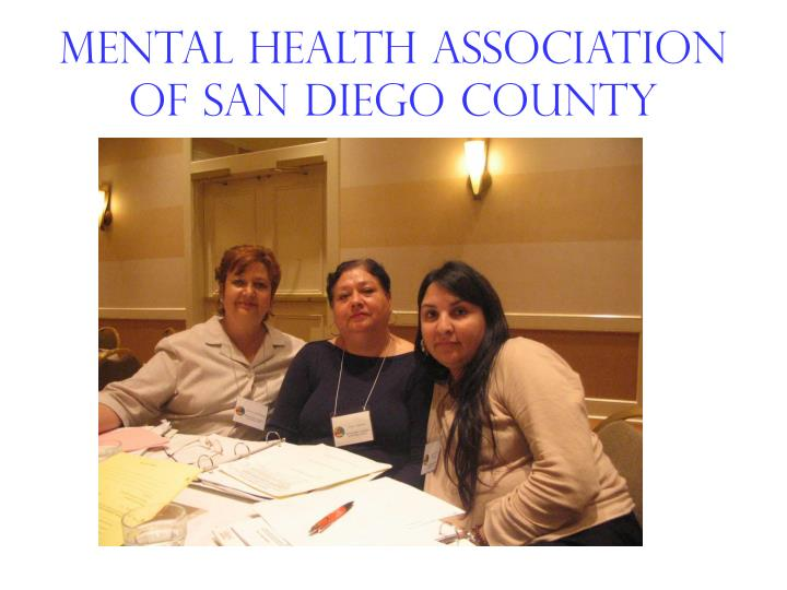 Mental Health Association of san diego county