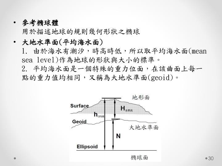 參考橢球體