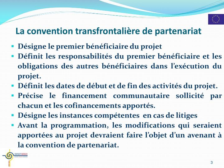 La convention transfrontali re de partenariat
