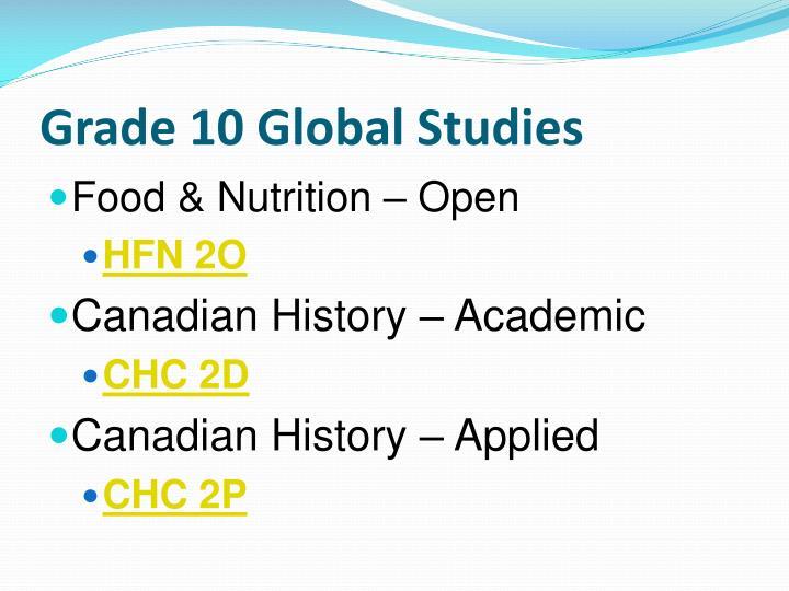 Grade 10 global studies1