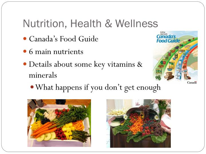 Nutrition, Health & Wellness